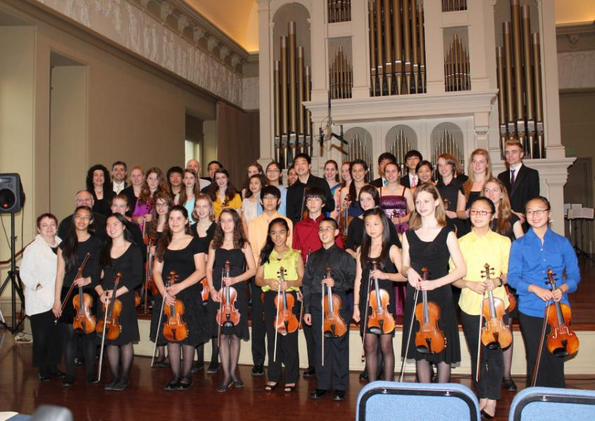 Stellae Boreales & the Peabody Violin Choirs after the concert