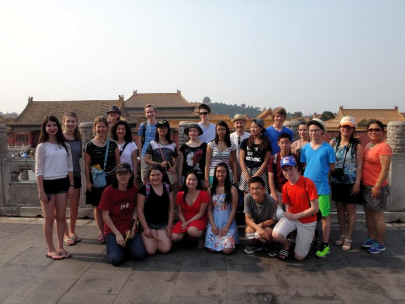 Group photo at the Forbidden City