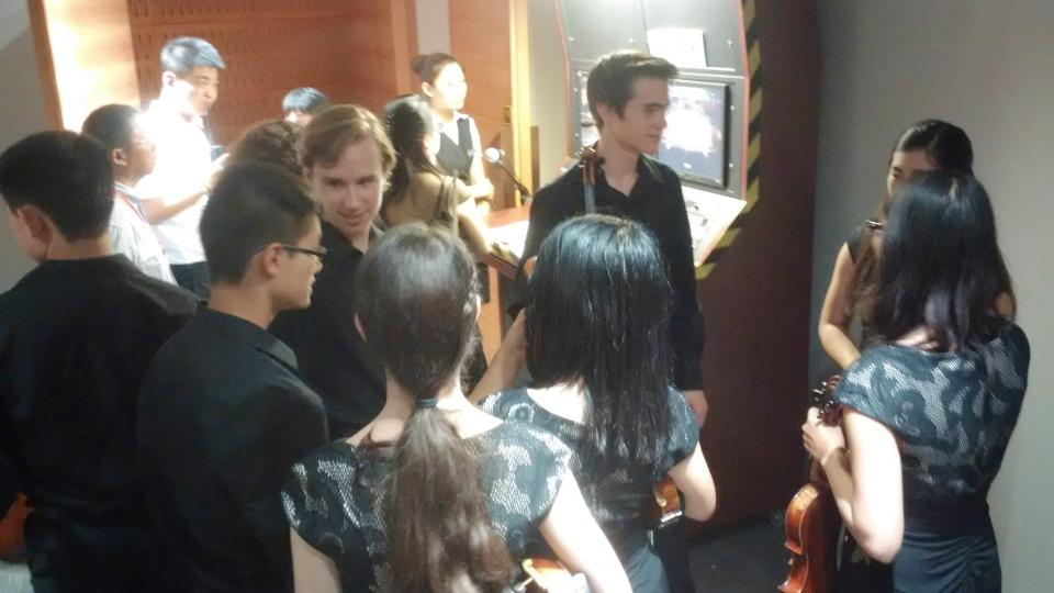 Backstage just moments before the show in Shenyang