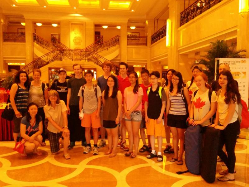 Group photo while checking out Shenyang